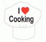 I Love Cooking - Enamel Charm